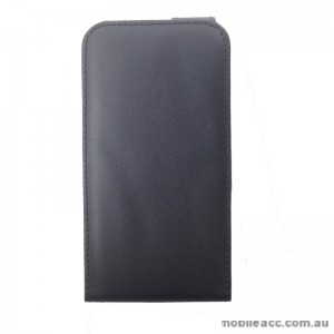 Synthetic Leather Flip Case for Telstra Tough Max Black