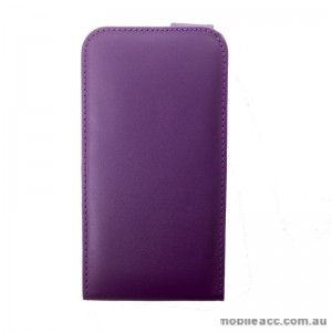 Synthetic Leather Flip Case for Telstra Tough Max Purple