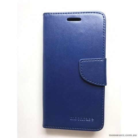 Mooncase Stand Wallet Case For Telstra ZTE Tough Max 2 T85 - Navy