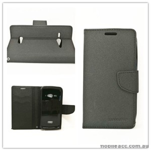 Mooncase Stand Wallet Case For Telstra ZTE Tough Max T84 - Black