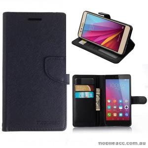 Mooncase Stand Wallet Case For Huawei GR5 /  Honor 5X Black