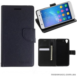 Mooncase Stand Wallet Case For  Huawei Ascend Y6 - Black