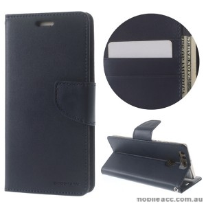 Mercury Goospery Bravo Diary Wallet Case For Huawei P9 Plus - Navy