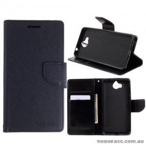Mooncase Stand Wallet Case For Huawei Y5 2017 - Black