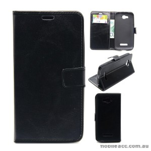 Wallet Case Cover for Alcatel C7 Black