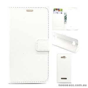 Wallet Case Cover for Alcatel C7 White
