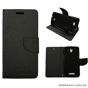 Mooncase Stand Wallet Case For Telstra Slim Plus/ZTE Blade L5 Black