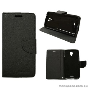Mooncase Stand Wallet Case For Telstra 4GX Plus/ZTE Blade A462 Black