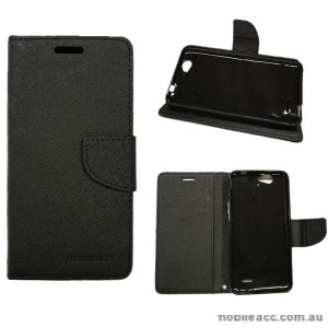 Mooncase Stand Wallet Case For Telstra 4GX HD/ZTE Blade A475/L4 Pro Black+ 1TP