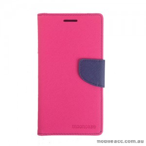 Universal Fancy Diary Stand Wallet Case Size 5 - Hot Pink