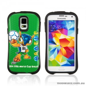 2014 FIFA World Cup Brasil iFace Case Cover for Samsung Galaxy S5 - Fuleco
