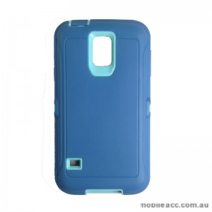 Rugged Defender Heavy Duty Case for Galaxy S5 Light Blue
