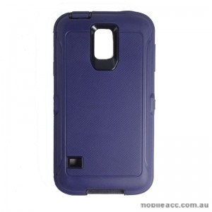 Rugged Defender Heavy Duty Case for Galaxy S5 Blue