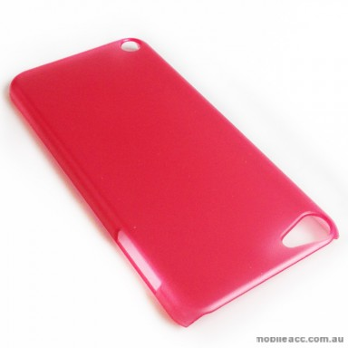 Translucent Back Case for Apple iPod Touch 5 - Red