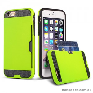 Rugged Shockproof Tough Back Case With Side Card Slot For iPhone 6/6s - Green