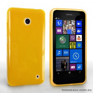 TPU Gel Case Cover for Nokia Lumia 630 635 - Yellow
