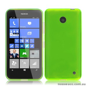 Nokia Lumia 630 635 TPU Gel Case Cover - Green