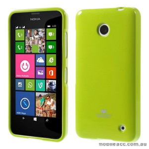 Korean Mercury Pearl TPU Gel Case Cover for Nokia Lumia 630 635 - Green