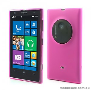 TPU Gel Case Cover for Nokia Lumia 1020 - Hot Pink
