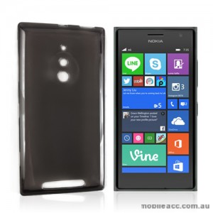TPU Gel Case Cover for Nokia Lumia 830 - Dark Grey