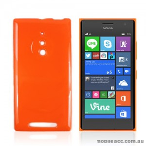 TPU Gel Case Cover for Nokia Lumia 830 - Orange
