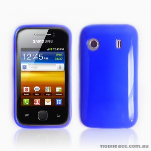 TPU Gel Case for Telstra Samsung Galaxy Y S5360T - Dark Blue