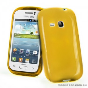 TPU Gel Case for Samsung Galaxy Young S6310 - Yellow