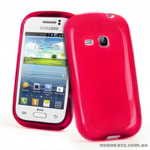 TPU Gel Case for Samsung Galaxy Young S6310 - Hot Pink