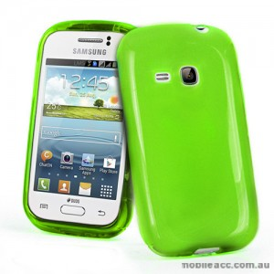 TPU Gel Case for Samsung Galaxy Young S6310 - Green