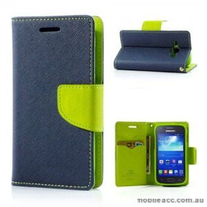 Samsung Galaxy Ace 3 Wallet Case - Navy Blue