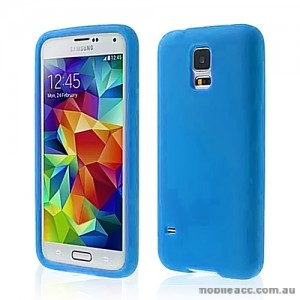 TPU Gel Case Cover for Samsung Galaxy S5 - Blue