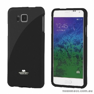Korean Mercury Pearl TPU Case Cover for Samsung Galaxy Alpha - Black