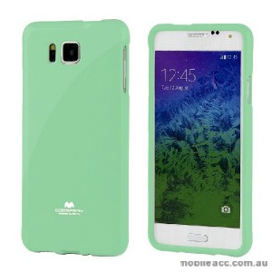 Korean Mercury Pearl TPU Case Cover for Samsung Galaxy Alpha - Green
