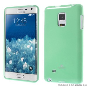 Korean Mercury TPU Gel Case Cover for Samsung Galaxy Note Edge - Mint