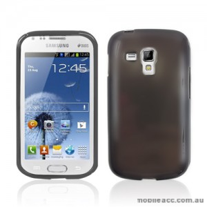 TPU Gel Case Cover for Samsung Galaxy Trend Plus - Dark Grey