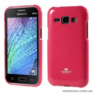Korean Mercury TPU Case Cover for Samsung Galaxy J1 Hot Pink