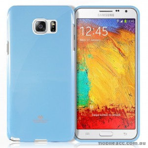 Korean Mercury Color Pearl Jelly Case for Samsung Galaxy J1 Ace Blue