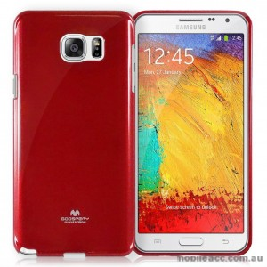 Mercury Pearl Jelly Case for Samsung Galaxy A8 Red