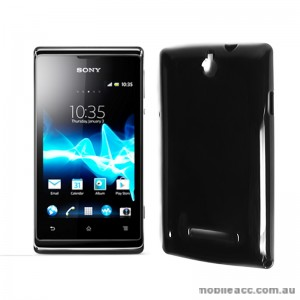 TPU Gel Case for Sony Xperia E Dual - Black
