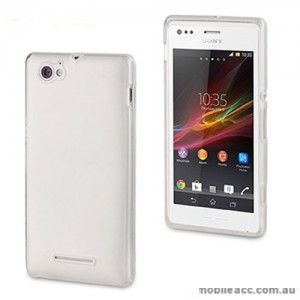 TPU Gel Case Cover for Sony Xperia M - Clear