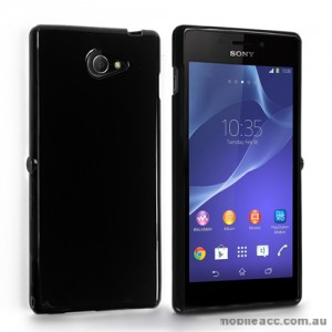 TPU Gel Case Cover for Sony Xperia M2 - Black