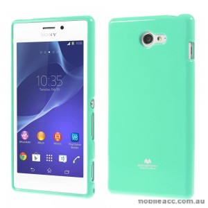 Mercury Pearl TPU Gel Case Cover for Sony Xperia M2 - Green