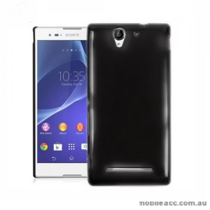 TPU Gel Case Cover for Sony Xperia C3 - Black