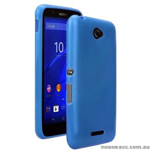 TPU Gel Case Cover for Sony Xperia E4 - Blue