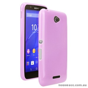 TPU Gel Case Cover for Sony Xperia E4 - Light Pink