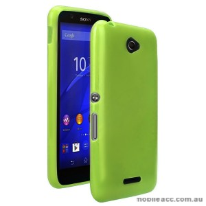 TPU Gel Case Cover for Sony Xperia E4 - Bean Green