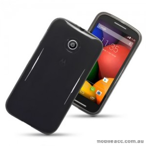 Motorola Moto E TPU Gel Case - Smoke Black