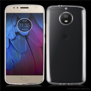 Soft TPU Gel Jelly Case For Motorola Moto G5S Plus - Clear