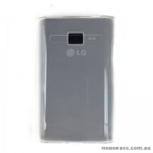 Soft TPU Gel Case for LG Optimus L3 E400 - Grey