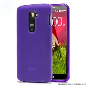 TPU Gel Case Cover for LG G2 D802 - Purple